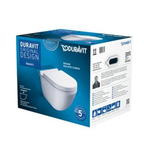 WC suspendu pack complet,540mm, 42x37x54cm, Duravit.