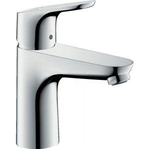 Grifo lavabo, caño medio, Hansgrohe,    sin vaciador, mezclador monomando, proyección 119mm, cromo