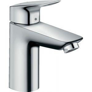 Aixeta lavabo,ca mitjà,HansGrohe,sense buidador,mesclador monocomandament,projecció 108mm,crom