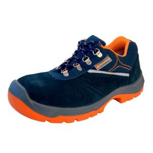 Work shoes, size 45, blue and orange color