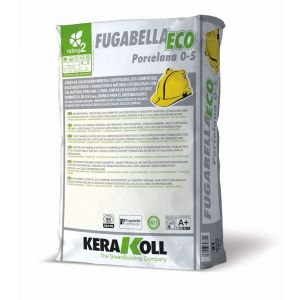 Mineral Grouts for Ceramic, Porcelain Tiles and Natural Stone, fugabella eco porcelain, 5kg bag, color 01, White, Kerakoll