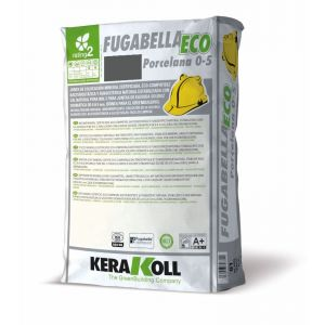Mineral Grouts for Ceramic, Porcelain Tiles and Natural Stone, fugabella eco porcelain, 5kg bag, color 05, Anthracite, Kerakoll