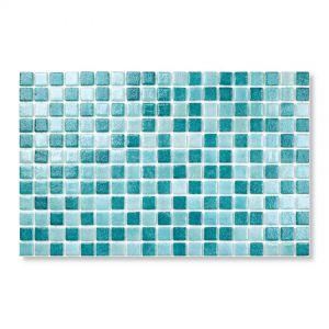 Gresite Mix Bleu-Vert, 2.5x2.5cm, Mosaïque de piscine.