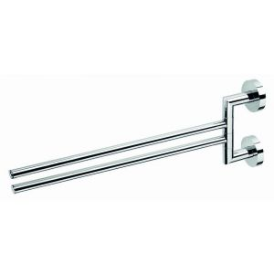 Bath towel bar/stick, Odeon, double, 5.5x16.5x44.5cm, chrome