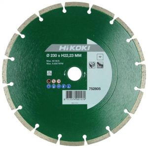 Diamond disc, Hikoki, general work, inner shaft 23x7 ST, universal,  green/chrome