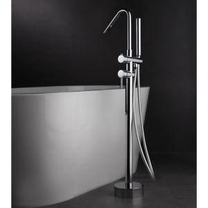 robinet de baignoire de pied, Corse, robinet, au sol pour baignoire, chrome