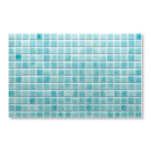 Gresite Bleu-Vert, 2.5x2.5cm, Mosaïque de piscine.
