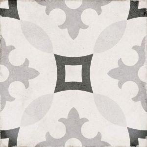 Art Nouveau Karlsplatz Grey 20x20, Ceramic, Floor, Paving, Decor, Porcelain
