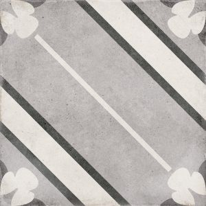Art Nouveau Inspire Grey 20x20, Ceramic, Floor, Paving, Decor, Porcelain