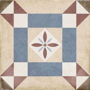 Art Nouveau Lys Colores 20x20, Céramique, Sol, Faïence, Carrelage, Décor, Couleur