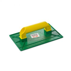 Grout Float, JAR, small rectangular,  27.5x18.5cm,  green/yellow