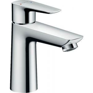 Grifo lavabo, caño alto, Hansgrohe,    sin vaciador, mezclador monomando, liso, cromo