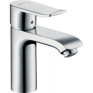 Grifo lavabo, caño alto, Hansgrohe,    sin vaciador, mezclador monomando, automático, cromo