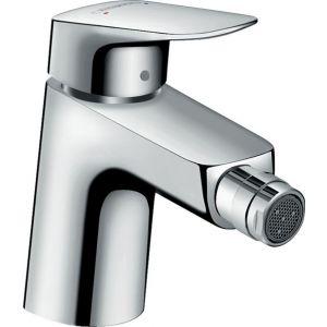 Grifo lavabo, bidé, Hansgrohe,    con vaciador, sintético, cromo