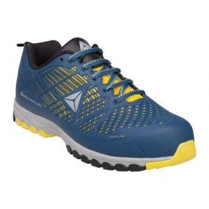 Zapatos de trabajo, talla 43, color azul-amarillo