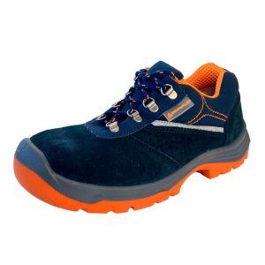Zapatos de trabajo, talla 41, color azul-naranja