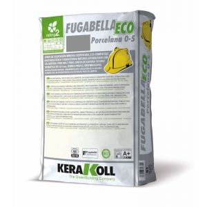 Mineral Grouts for Ceramic, Porcelain Tiles and Natural Stone, fugabella eco porcelain, 5kg bag, color 04, Iron Gray, Kerakoll