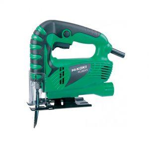 Jigsaw cutting, Hikoki, adjustable speed, wood-steel-tubes, green/black/chrome