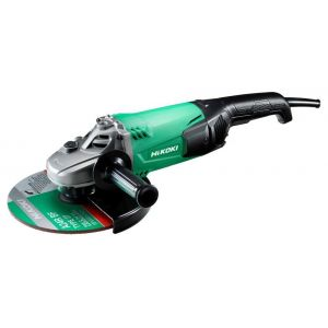 Angle grinder, Hikoki, ancillary handle, green/black/chrome