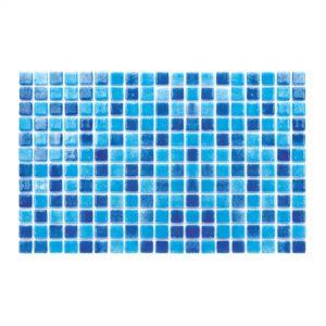 Gresite Mix Bleu Ciel-Marin, 2.5x2.5cm, Mosaïque de piscine.