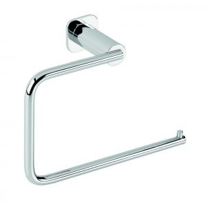 Bath towel bar/stick, Basic, wall mount, small, 16x11x6.5cm, chrome