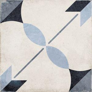 Art Nouveau Arcade Blue 20x20, Ceramic, Floor, Paving, Decor, Porcelain