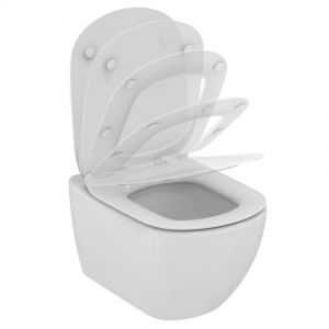 Toilet , wall hung, Ideal Standard, Tesi, with cover, aquablade, white