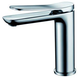 Grifo lavabo, Dinamarca, monomando, caño bajo, cromo