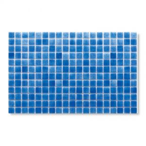 Gresite Bleu Ciel, 2.5x2.5cm, Mosaïque de piscine.