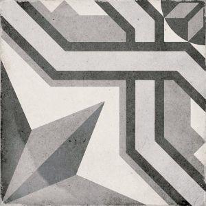 Art Nouveau Cinema Gris 20x20, Ceràmica, Terra, Paviment, Decor, Porcelànic