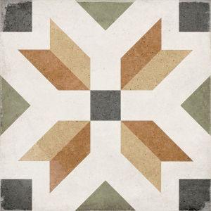 Art Nouveau Empire Colors 20x20, Ceramic, Floor, Paving, Decor, Porcelain