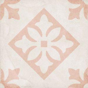 Art Nouveau Padua Rosa 20x20, Céramique, Sol, Faïence, Carrelage, Décor, Couleur