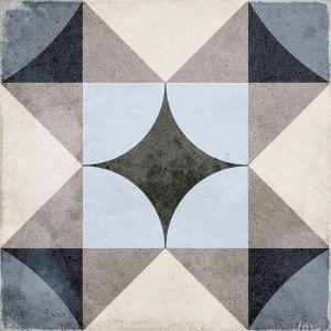 Art Nouveau Palais Azul 20x20, Cerámica, Suelo, Pavimento, Decor, Porcelánico