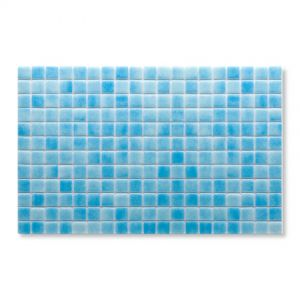 Gresite Bleu Clair, 2.5x2.5cm, Mosaïque de piscine.