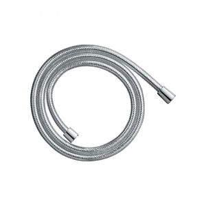 Shower hose, 150mm, chrome finish.