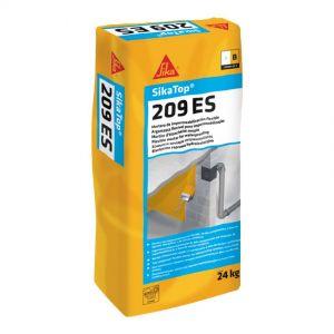 Mortier d'imperméabilisation SikaTop 209 ES, couleur gris.