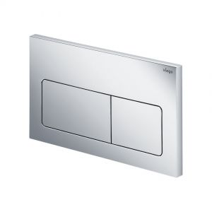 Dual Flush Plate,Viega, rectangular, dark chrome finish.