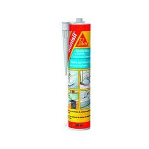 SIKA SANISIL, blanc, mastic silicone anti-moisissures spécial sanitaire